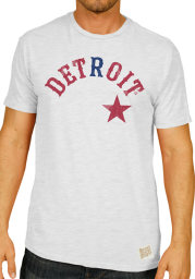 Original Retro Brand Detroit Stars White Wordmark Short Sleeve Fashion T Shirt