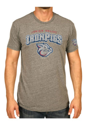 Original Retro Brand Lehigh Valley Ironpigs Grey MiLB Short Sleeve Fashion T Shirt