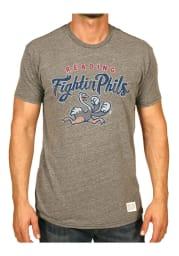 Original Retro Brand Reading Fightin Phils Grey MiLB Short Sleeve Fashion T Shirt