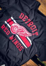 Original Retro Brand Detroit Red Wings Black Vintage Short Sleeve Fashion T Shirt