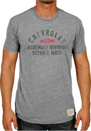 Orignal Retro Brand Chevrolet Grey Logo Short Sleeve T Shirt