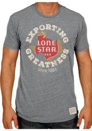 Original Retro Brand Lone Star Beer Grey Exporting Greatness Short Sleeve T Shirt