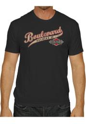 Original Retro Brand Boulevard Black Script Logo Short Sleeve T Shirt