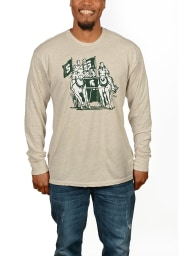 Original Retro Brand Michigan State Spartans Brown Spartan Chariot Long Sleeve Tee
