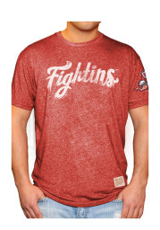 Original Retro Brand Reading Fightin Phils Red Mock Twist Short Sleeve Fashion T Shirt