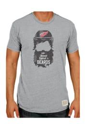 Original Retro Brand Detroit Red Wings Grey Triblend Short Sleeve Fashion T Shirt