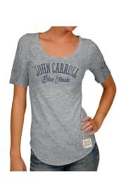 Original Retro Brand John Carroll Blue Streaks Juniors Grey Streaky Scoop T-Shirt