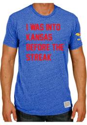 Original Retro Brand Kansas Jayhawks Blue 1941 Streak Short Sleeve Fashion T Shirt