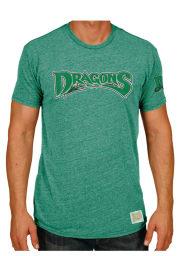 Original Retro Brand Dayton Dragons Mens Green Minor League Short Sleeve Fashion T Shirt