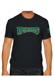 Original Retro Brand Dayton Dragons Black Vintage 2 Hit Short Sleeve Fashion T Shirt