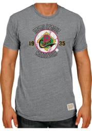 Original Retro Brand Pittsburgh Crawfords Grey 1935 Champs Short Sleeve Fashion T Shirt