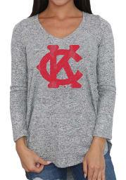 Original Retro Brand Kansas City Monarchs Womens Grey Classic LS Tee