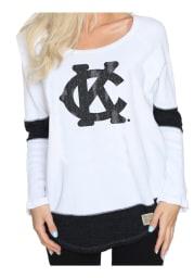 Original Retro Brand Kansas City Monarchs Womens White Harper LS Tee