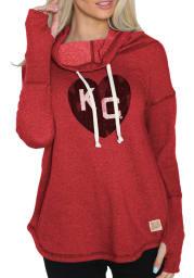 Original Retro Brand Kansas City Monarchs Womens Red Ilene Hooded Sweatshirt