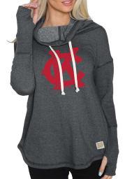 Original Retro Brand Kansas City Monarchs Womens Charcoal Ilene Hooded Sweatshirt