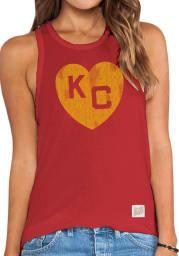 Original Retro Brand Kansas City Monarchs Womens Red Lauren Tank Top