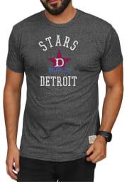 Original Retro Brand Detroit Stars Charcoal Mock Twist Short Sleeve Fashion T Shirt