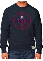 Original Retro Brand Detroit Stars Mens Navy Blue Raglan Crew Long Sleeve Fashion Sweatshirt