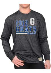 Original Retro Brand Homestead Grays Black Mock Twist Long Sleeve Fashion T Shirt