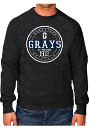Original Retro Brand Homestead Grays Mens Black Raglan Crew Long Sleeve Fashion Sweatshirt