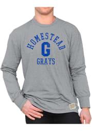 Original Retro Brand Homestead Grays Grey Mock Twist Long Sleeve Fashion T Shirt