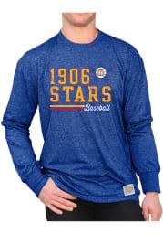 Original Retro Brand St Louis Stars Blue Mock Twist Long Sleeve Fashion T Shirt