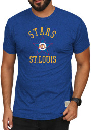 Original Retro Brand St Louis Stars Blue Mock Twist Short Sleeve Fashion T Shirt
