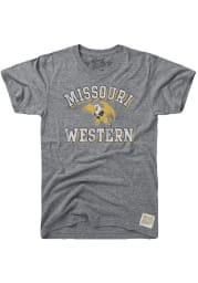 Original Retro Brand Missouri Western Griffons Grey Team Short Sleeve Fashion T Shirt