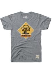 Original Retro Brand Boulevard Grey Wheat Logo Short Sleeve T Shirt