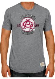 Original Retro Brand Chicago American Giants Grey 1927 Champs Short Sleeve Fashion T Shirt