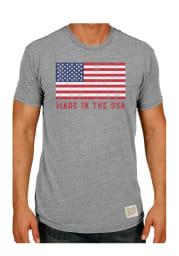 Original Retro Brand Americana Grey Flag Made In The USA Short Sleeve T Shirt