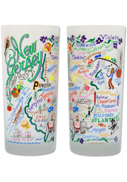 New Jersey 15oz Illustrated Frosted Pint Glass