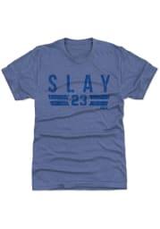 Darius Slay Detroit Lions Blue Font L Short Sleeve Fashion Player T Shirt