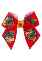 Chicago Blackhawks Red Pet Bow
