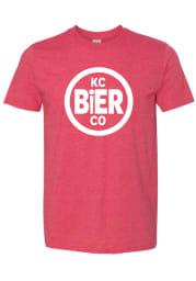 KC Bier Co Red Circle Logo Short Sleeve T Shirt