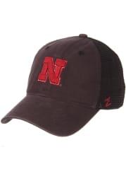 Zephyr Nebraska Cornhuskers Raven Meshback Adjustable Hat - Charcoal