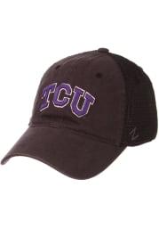 Zephyr TCU Horned Frogs Raven Meshback Adjustable Hat - Charcoal