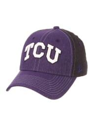 Zephyr TCU Horned Frogs Mens Black Clash Flex Hat