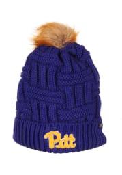 Zephyr Pitt Panthers Blue Theta Cuff Pom Womens Knit Hat