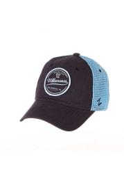 Zephyr Villanova Wildcats Destination Meshback Adjustable Hat - Navy Blue