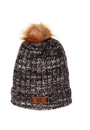 Zephyr Michigan Wolverines Grey Gracie Cuff Pom Womens Knit Hat
