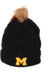 Zephyr Michigan Wolverines Navy Blue Theta Cuff Pom Womens Knit Hat