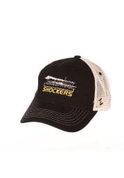 Zephyr Wichita State Shockers Destination Meshback Adjustable Hat - Black