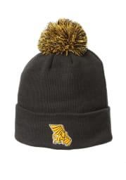 Zephyr Missouri Western Griffons Charcoal Cuff Pom Mens Knit Hat