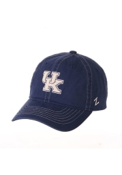 Zephyr Kentucky Wildcats Solo Washed Adjustable Hat - Blue