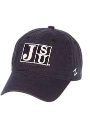 Jackson State Tigers Scholarship Adjustable Hat - Navy Blue