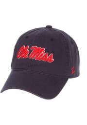 Ole Miss Rebels Scholarship Adjustable Hat - Navy Blue