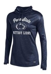 Under Armour Penn State Nittany Lions Womens Navy Blue Grainy LS Tech Crew Sweatshirt