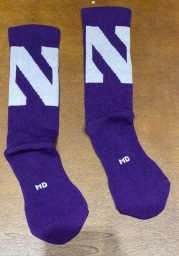 Northwestern Wildcats Under Armour Performance Mens Crew Socks