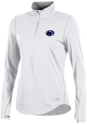Under Armour Penn State Womens White Charged Cotton 1/4 Zip Pullover
